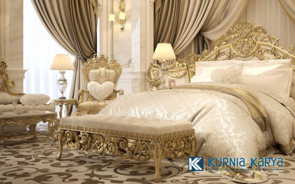 Best Desain Bedroom Set Klasik Mewah Terbaik KS-02, Kurnia Karya