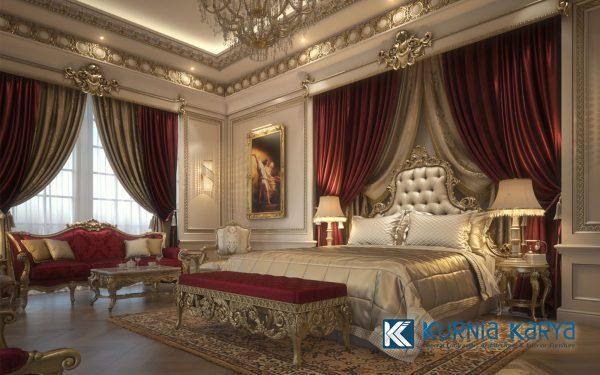 Interior Desain Terbaru Kamar Klasik Mewah 2021 KS-03, Kurnia Karya