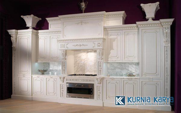 Jual Kitchen Warna Putih Ukir Jepara Elegan KC-04, Kurnia Karya