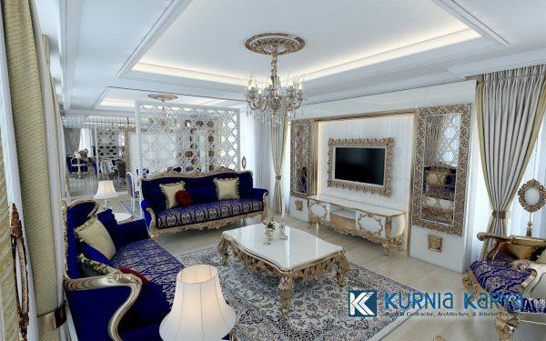 Desain Sofa Ruang Keluarga Ukir Luxury ST-01, Kurnia Karya